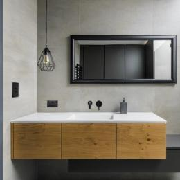 Matt black bathroom